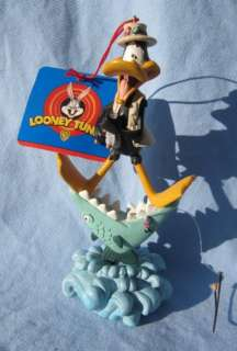 Daffy Duck Christmas Ornament Looney Tunes Warner Bros. Fisherman