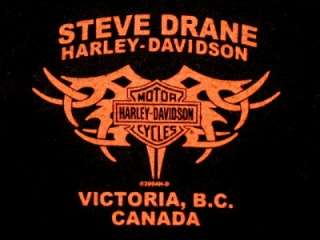 HARLEY DAVIDSON Flaming Heart Womens Victoria, B.C. Canada Shirt
