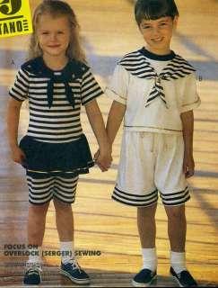 Boys & Girls Retro Style SAILOR Tops & Shorts   Vtg McCalls 5853