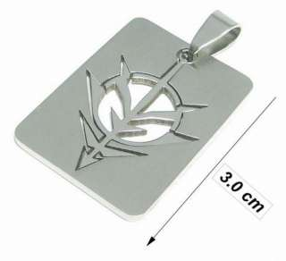 PS0321 STAINLESS STEEL BRAMBLE ARROW HEAD DOG TAG PENDANT CHAIN