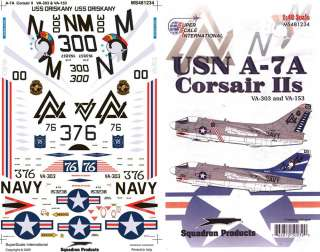 Superscale USA  USN A 7A Corsairs IIs   1/48 model decal
