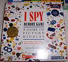 SPY Memory Game Spooky Picture Riddle Board Card Briarpatch 1996