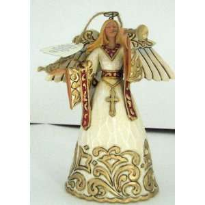 Enesco Jim Shore 4323471 Ivory and Gold Angel Ornament