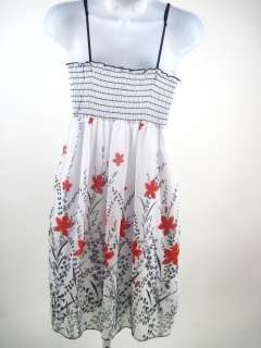 CELINE White Floral Printed Sleeveless Dress Size Small
