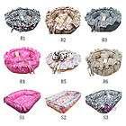 NEW 100% Cotton Handmade Pet Dog Cat Bed House Coushion mat+a pillow