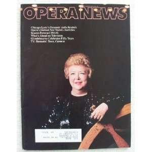 Opera News Magazine. September 1984. Single Issue Magazine