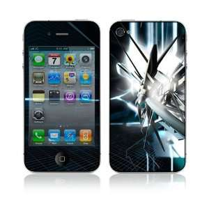 Apple iPhone 4G Decal Vinyl Skin   Abstract Tech City
