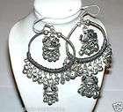 Banjara Tribal Kuch Gypsy Black Metal Earrings India items in Gypsy