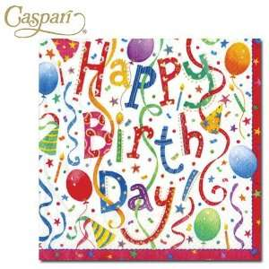 Caspari Paper Napkins 9100C Happy Birthday Cocktail Napkins