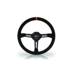 Zx1 Steering Wheel Black Ultrasuede Green Power marker: Automotive