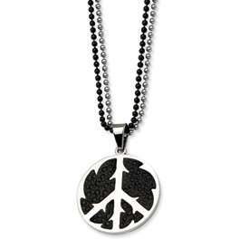 Chisel® Stainless Steel Stingray Peace Man 24 Necklace