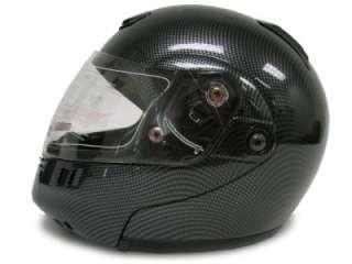 FLIP UP MODULAR MOTORCYCLE SPORT HELMET CARBON FIBER~XL