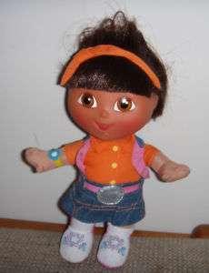 Dora the Explorer plush dolls plastic head Mattel 2005