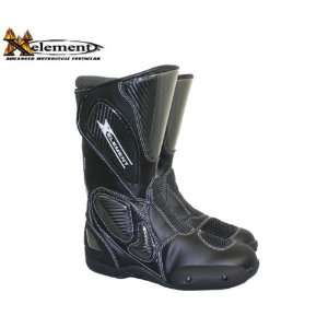 Womens Black Leather Sport Motorcycle Boots   Size  7 Automotive