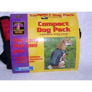 Hound Pet Travel Gear Compact Dog Pack   Red/Black   Portable Gear
