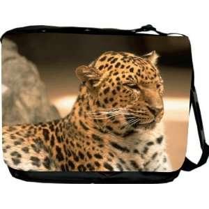 Rikki KnightTM Brown Tiger Messenger Bag   Book Bag   Unisex   Ideal