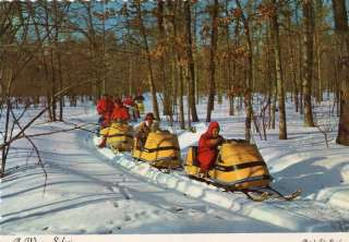 VINTAGE SKI DOO SNOWMOBILE UNUSED POST CARD NICE
