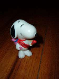 SNOOPY Cupid PVC Figure Valentines Day PEANUTS Charlie Brown Rare toy