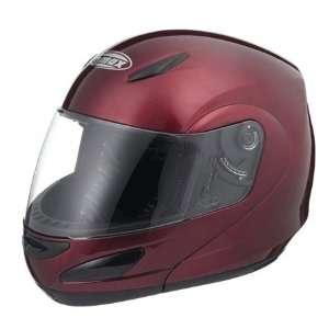 GMAX GM44 Full Face Street Helmet (X Large, Red Wine) Automotive