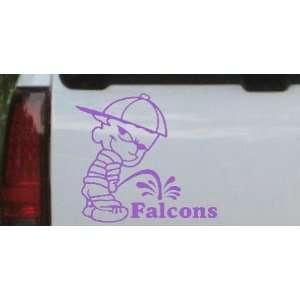 Purple 14in X 12.9in    Pee On Falcons Car Window Wall Laptop Decal