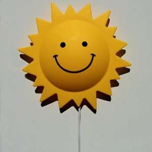 Sun Shaped Kids Room Wall Night Light Lamp   Model Sun777