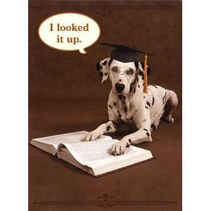 Dalmatian and Dictionary Graduation Card Everything Else