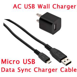 USB Wall+Data Cable Charger For BlackBerry Samsang HTC LG Smartphones