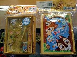 Disney Japan Chip & Dale Stationery Gift Set Box w/ Bag