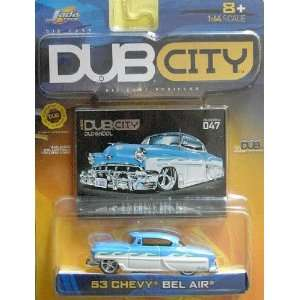 Jada Dub City 1953 White and Blue Chevy Bel Air 1:64 Scale