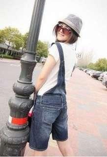 Ladys Fashion Single Shoulder Denim Overalls Blue HOT
