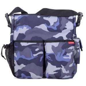 SKIP HOP Duo Diaper Bag Blue Camo Canvas Baby
