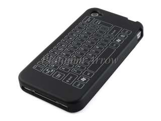 Soft Silicone Case Skin Cover for Apple iPhone 4 Keyboard Black