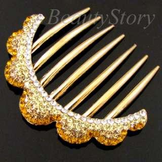 ADDL Item  1pc rhinestone crystal French twist hair comb