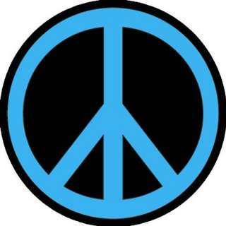 PEACE SIGN BLUE BLACK ROUND MOUSE PAD NEW COOL FUN