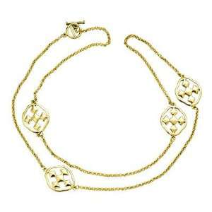 of Faith Gold Plated Long Linked Necklace, Gold Plated, Cross Medal