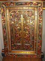 Traditional Balinese Window shutters~Hand carved wood Bali Art