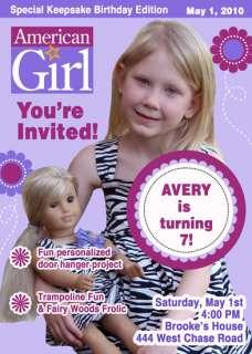 AMERICAN GIRL DOLL CUSTOM BIRTHDAY INVITATIONS
