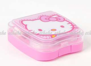 Hello Kitty Contact Lens Case Box Mirror Set Pink IK82