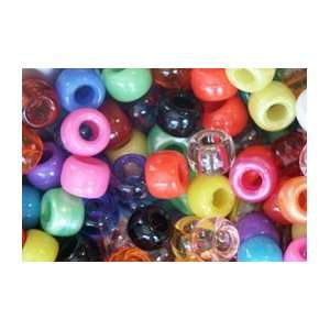 COLORFUL COLOR MIX CROW BEADS PONY BEADS: Arts, Crafts