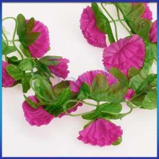 Garland Silk Flower Vine Home Wedding Garden Decoration Shocking Pink