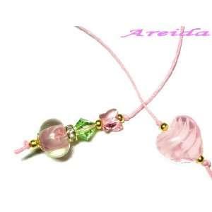 Lovely Pink Heart ~ Swarovski Crystal Book Thong