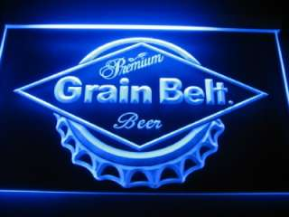 Grain Belt Logo Beer Bar Pub Store Neon Light Sign Neon W5601