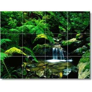 River Scene Shower Tile Mural R061  36x48 using (12
