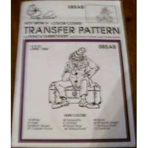 Hot Iron Transfer Pattern #885 Theater Clown (For Punch