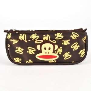 Paul Frank Cosmetic Case Makeup Travel Bag Brown Beauty