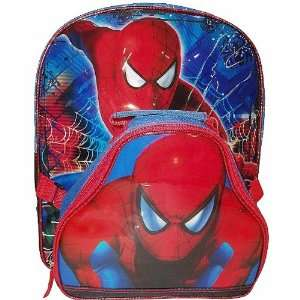 Marvel Comics Spiderman Character Backpack with Detachable Lunch Bag