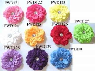 Crystal gerber daisy flower clip hair bow U pick 5