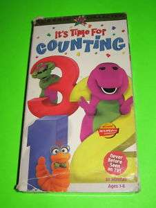 Barney Its Time For Counting VHS Classic Collection