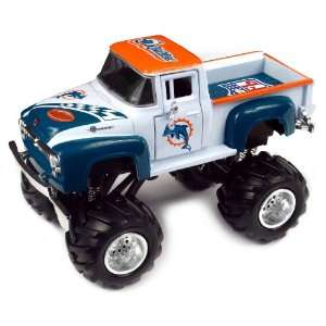 NFL 1956 Ford F 100 Monster Truck   Dolphins: Sports & Outdoors