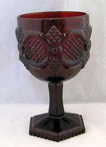 Avon Royal Ruby Red Glass Cape Cod 10oz Footed Goblet